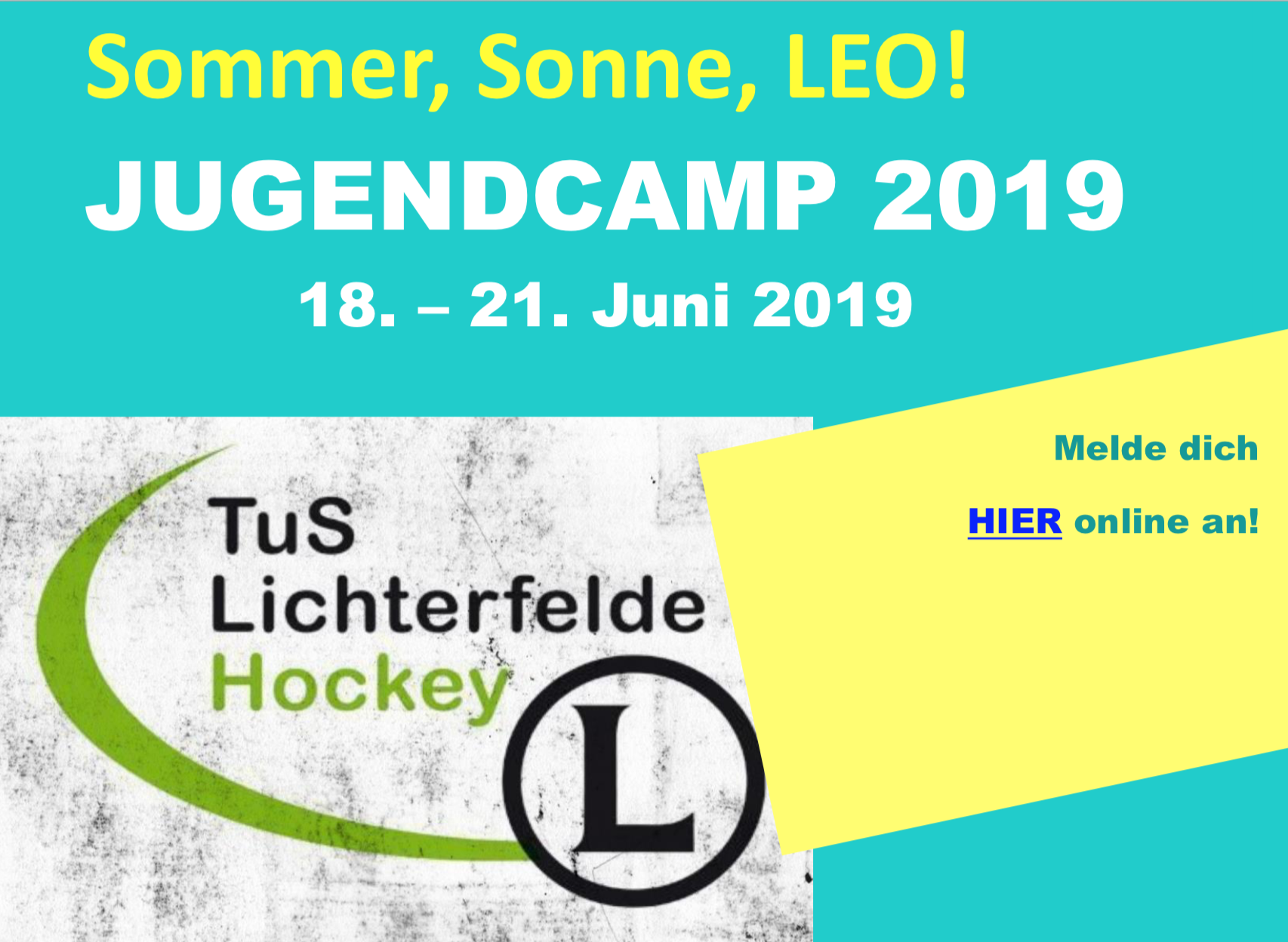 Sommer, Sonne, Leo! Jetzt die Plätze für das Sommer- und das Jugendcamp 2019 sichern