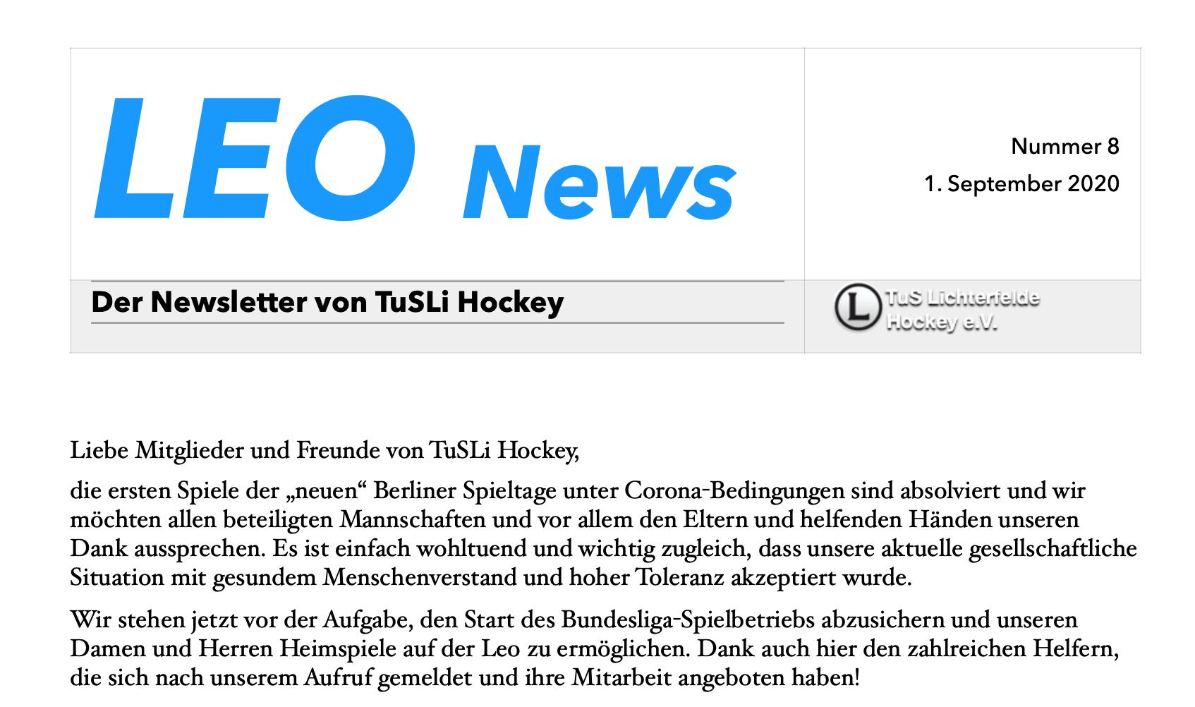 LEO News 8: alle Infos rund um den ersten Bundesligaspieltag
